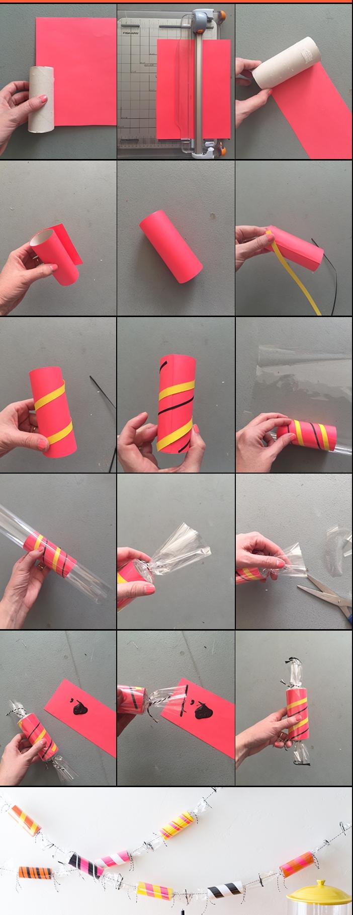 guirlande noel rouleau papier toilette