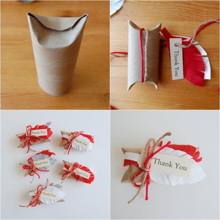 tuto facile pour réaliser une boîte cadeaux en tube carton recyclé pour toutes occasions