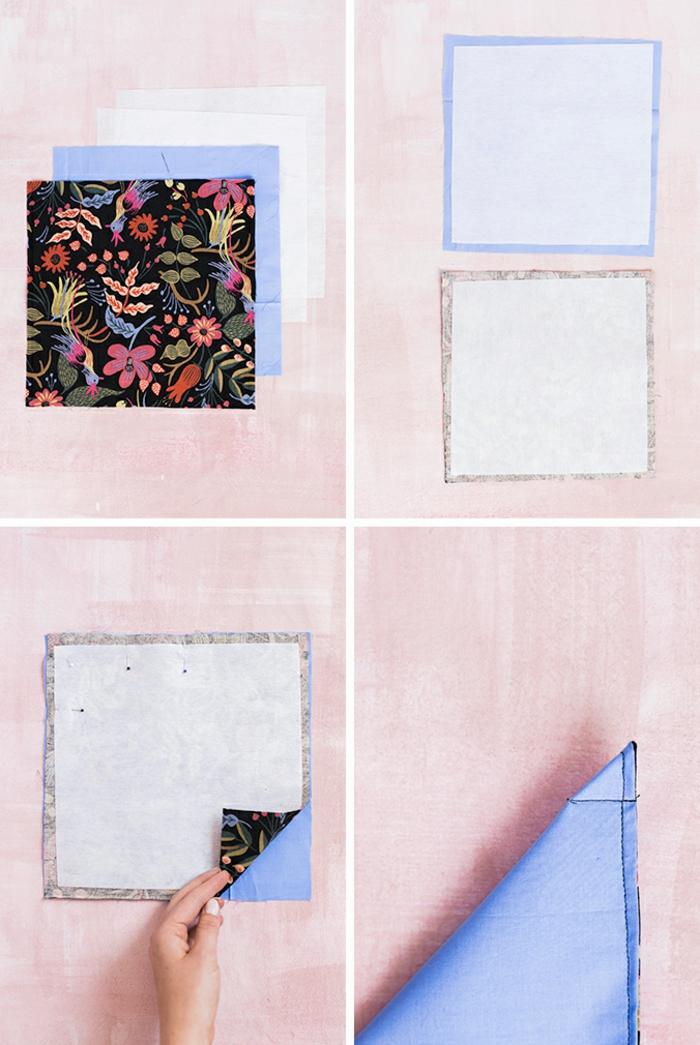 Couture pour les nuls poche vide plat idée couture sac couture simple et rapide