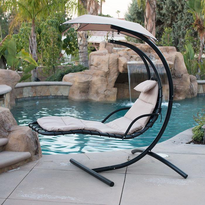 chaise longue de type hélicoptère avec ombrelle, superbe idée de cadeau pour souhaiter bonne fete papy