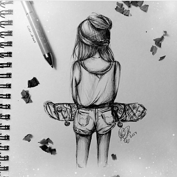 Tableau dessin a imprimer pour fille dessin de fille swagg artistique