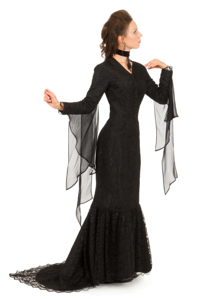 Gomez addams and morticia mere adams morticia addams style longue robe comme celle de morticia