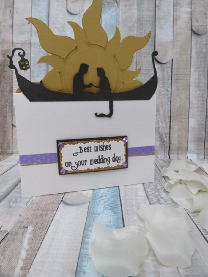 Carte invitation disney faire part mariage conte de fée idées