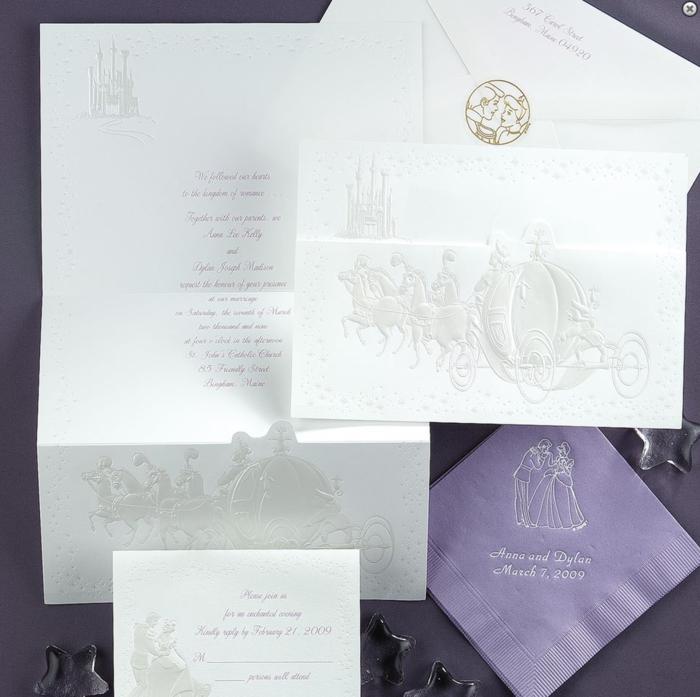 Ravissante idée faire part mariage champetre original conte de fee Cendrillon