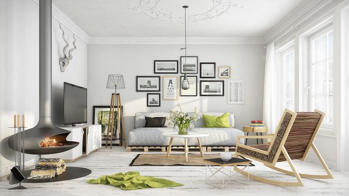 salon scandinave déco nordique suédoise meubles bois design