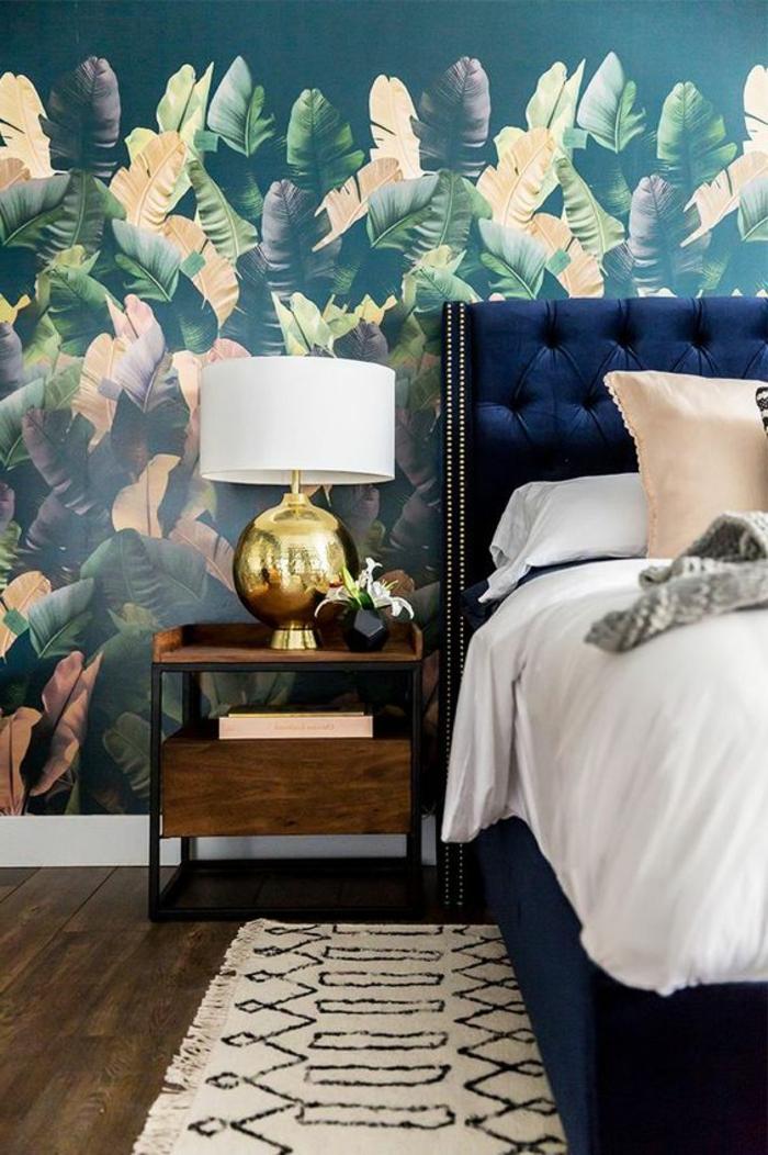 deco de chambre avec peinture chambre adulte avec combinaison couleur du lit et nuances couleurs du mur