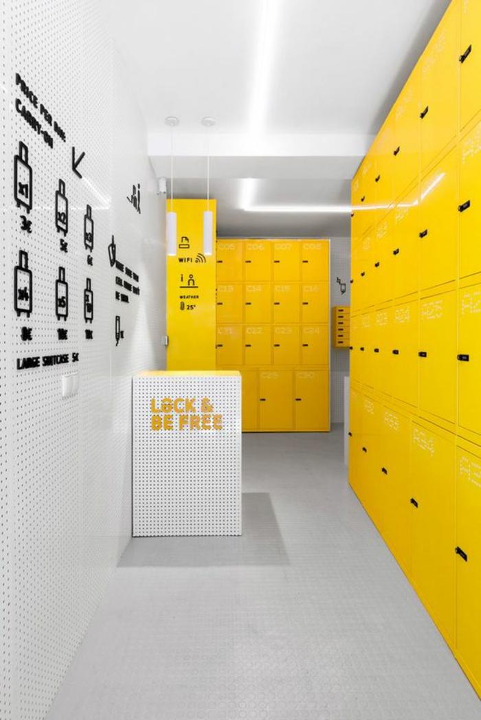 armoire métallique pour les établissements en couleur gaie pour une ambiance conviviale