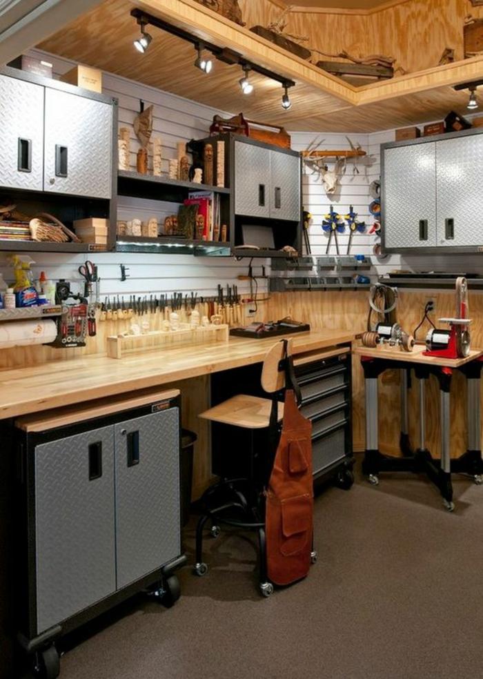 armoire industrielle dans votre atelier de travail dans le garage solidité pour les ustensiles