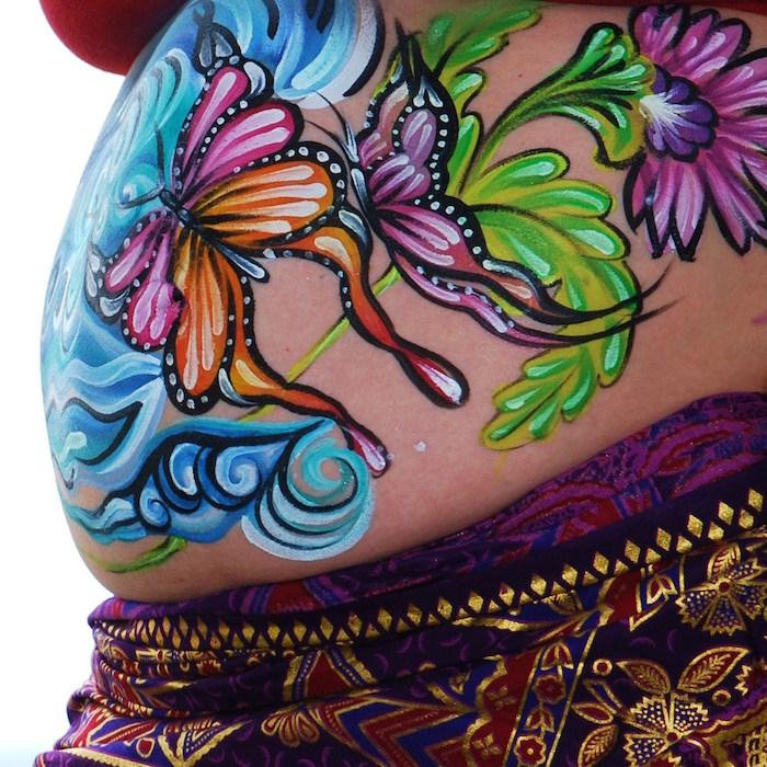 idée peinture ventre femme enceinte grossesse
