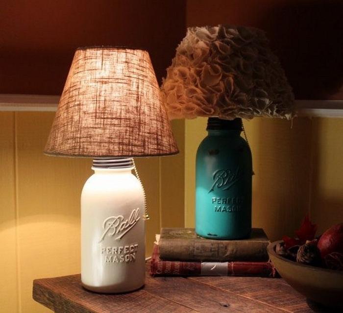 un diy lampe de chevet à abat-jour personnalisé de style shabby chic