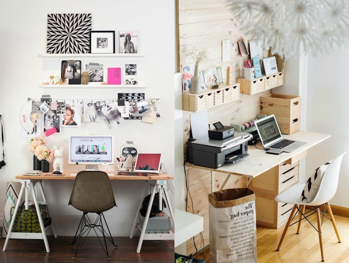 travailler de chez soi ide comment amnager son bureau peinture blanc et noir with comment. Black Bedroom Furniture Sets. Home Design Ideas