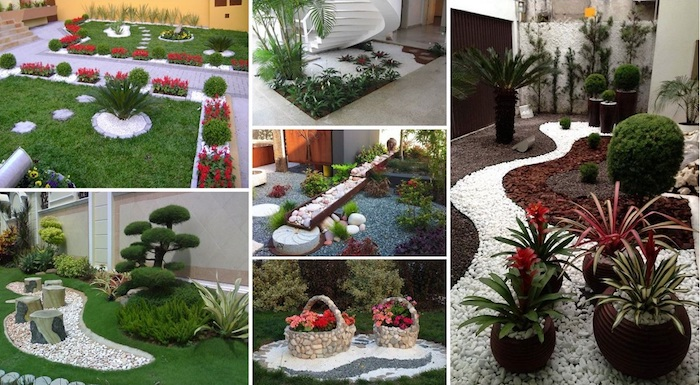 Stunning decoration de jardin avec des galets ideas for Table exterieure originale