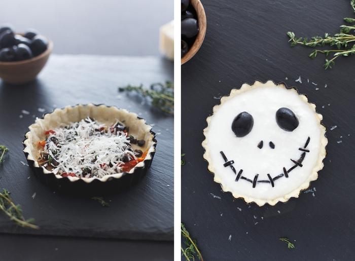comment préparer des tartelettes à la ricotta façon visage à sourire terrifiant pour un apero halloween original et délicieux