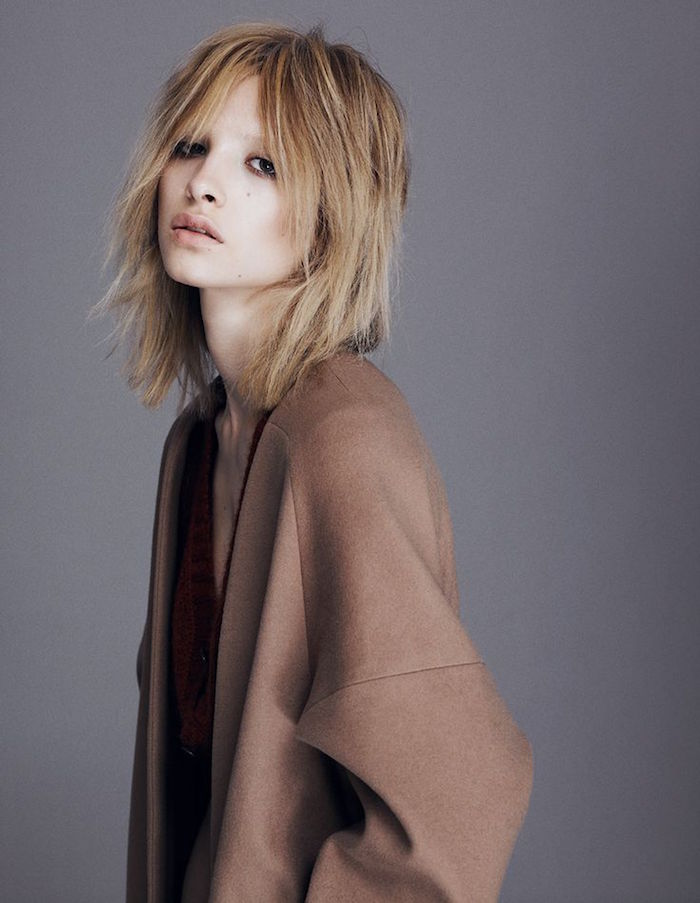 look grunge cheveux carre style vintage