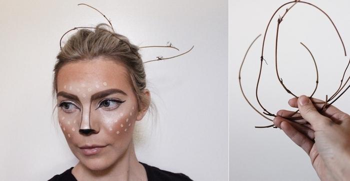 comment réaliser un maquillage halloween femme facile et impressionnant en recréant l'effet biche de snapchat