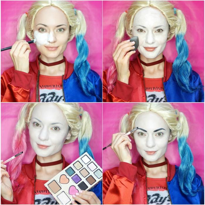 joli maquillage pour halloween inspiré du personnage burlesque de harley  quinn de suicide squad 60a0dc65cc0c