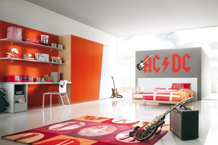 Stunning Chambre Orange Et Blanche Contemporary - Matkin.info ...