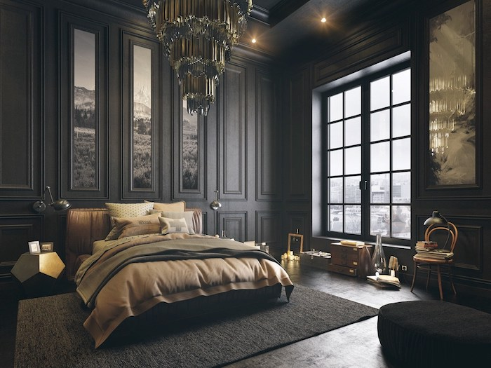 deco chambre marron chambre avec sol marron design de