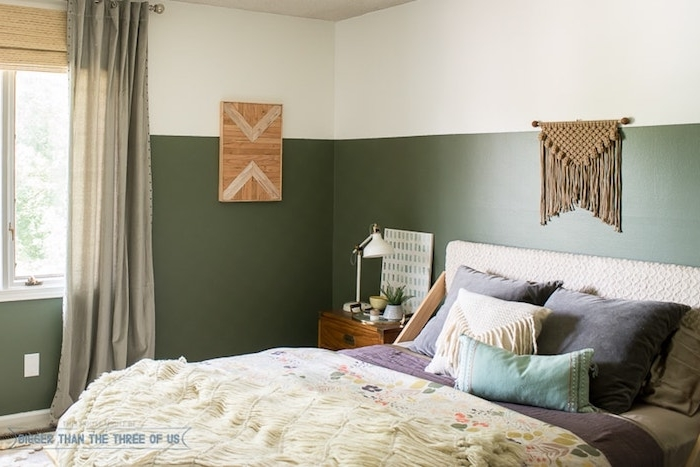 Stunning chambre parentale verte et grise ideas design for Couleur mur chambre parent