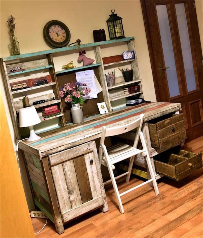 exemple bureau atelier fait diy en bois