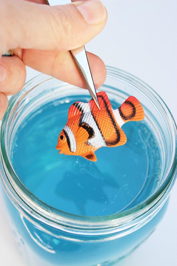 le plus beau projet diy lampe de chevet en bocal en verre imitant un aquarium
