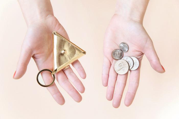 diy porte clé porte monnaie fait main maison