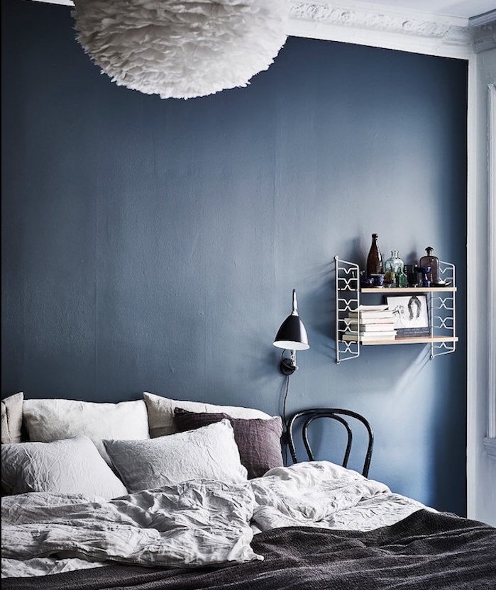 Awesome peinture bleu marine chambre ideas for Peinture bleu marine chambre