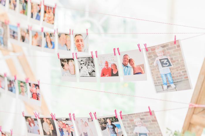 plan de table mariage constitué de photos polaroid des invités, deco mariage a faire soi meme facilement
