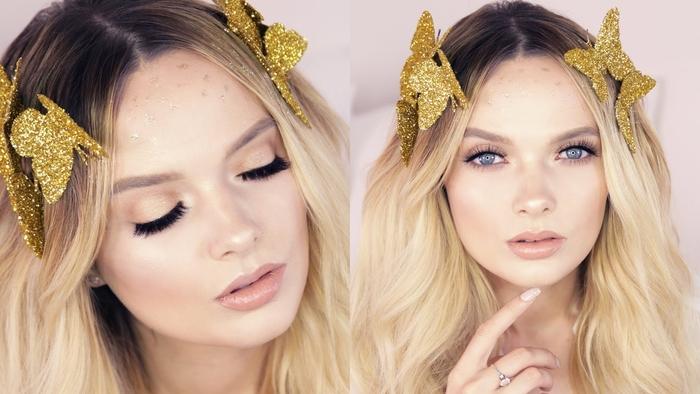 réalisez un joli maquilage halloween femme inspiré de l'effet snapchat papillon