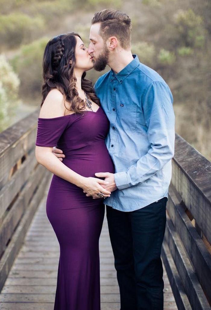 shooting photo femme enceinte sur un pont