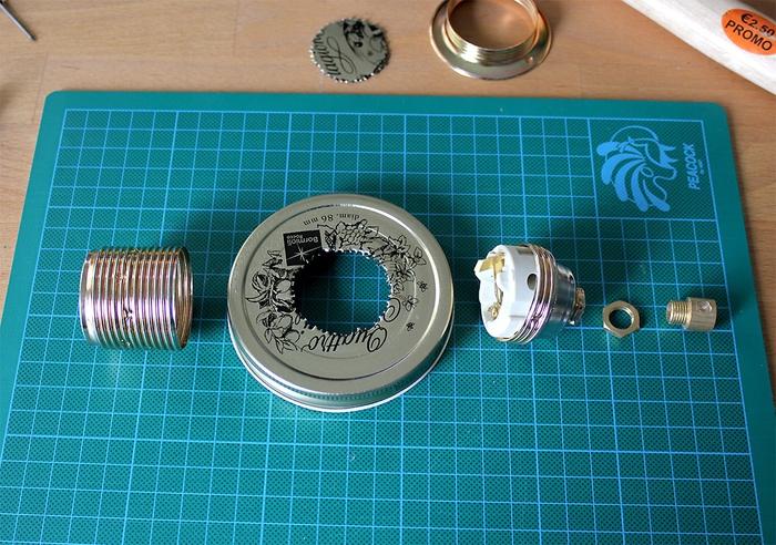 tuto de montage et de branchement d une lampe a poser diy de style baladeuse réalisee avec un bocal recyclé