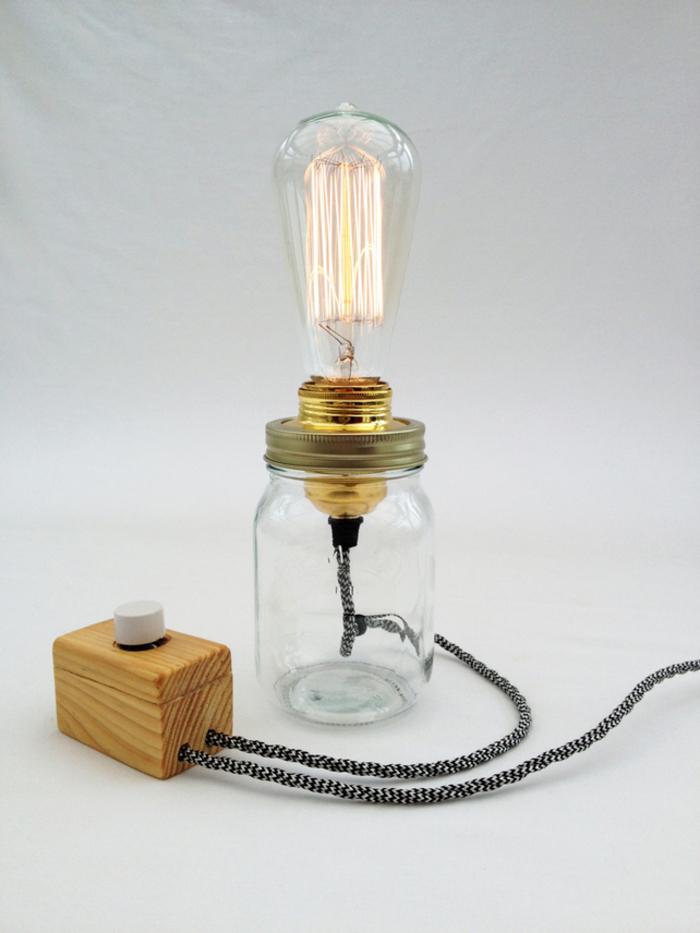 ▷ 1001+ idées de bricolage recyclage d'une lampe bocal