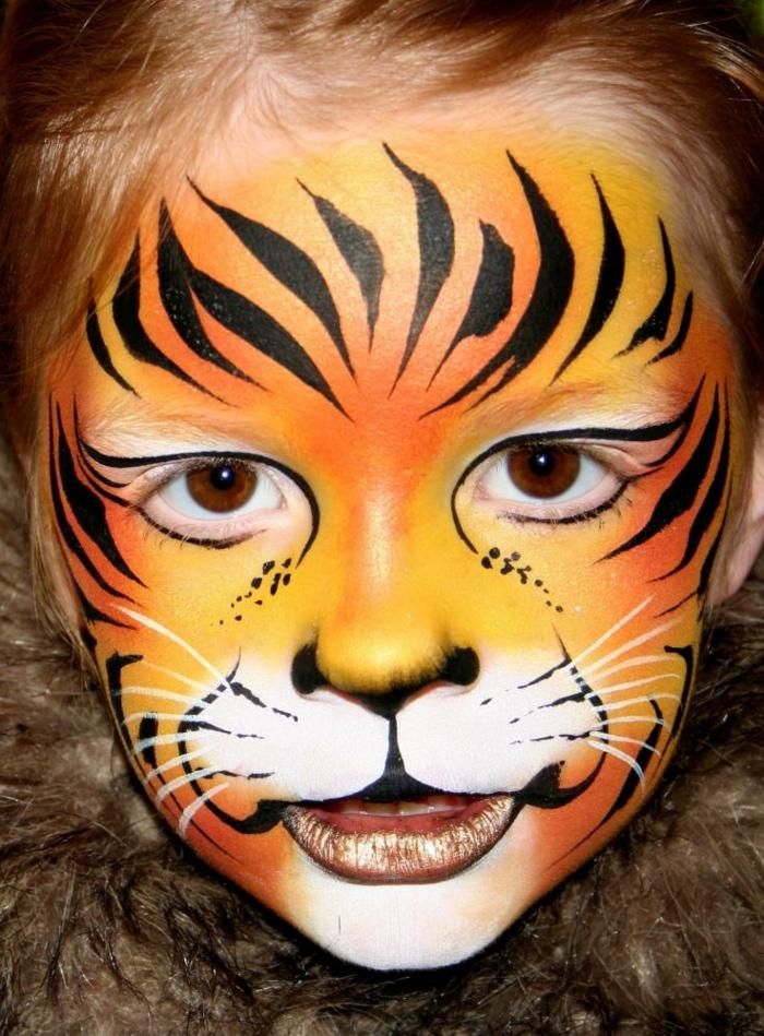 maquillage carnaval, déguisement et peinture visage pour halloween enfants