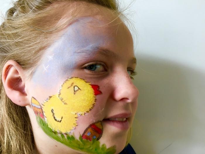 maquillage déguisement, maquillage de carnaval enfants, maquillage facile à faire