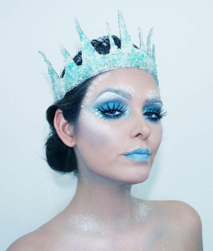 maquillage halloween reine
