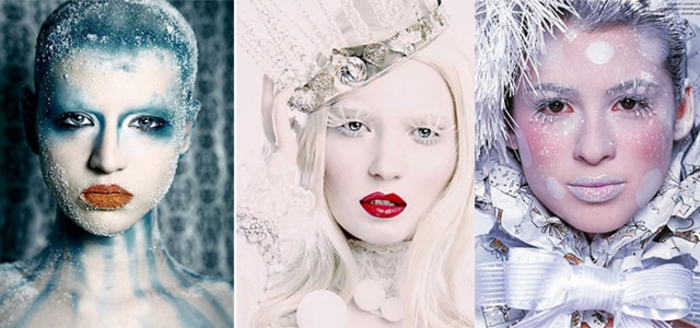 maquillage de la reine des neiges, déguisement pour halloween la reine des neiges
