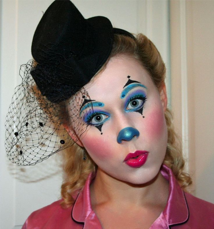1001 id es pour un maquillage halloween facile de derni re minute - Maquillage de clown facile ...