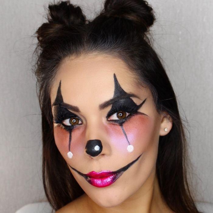 Maquillage clown simple ce32 montrealeast - Maquillage zombie femme facile ...