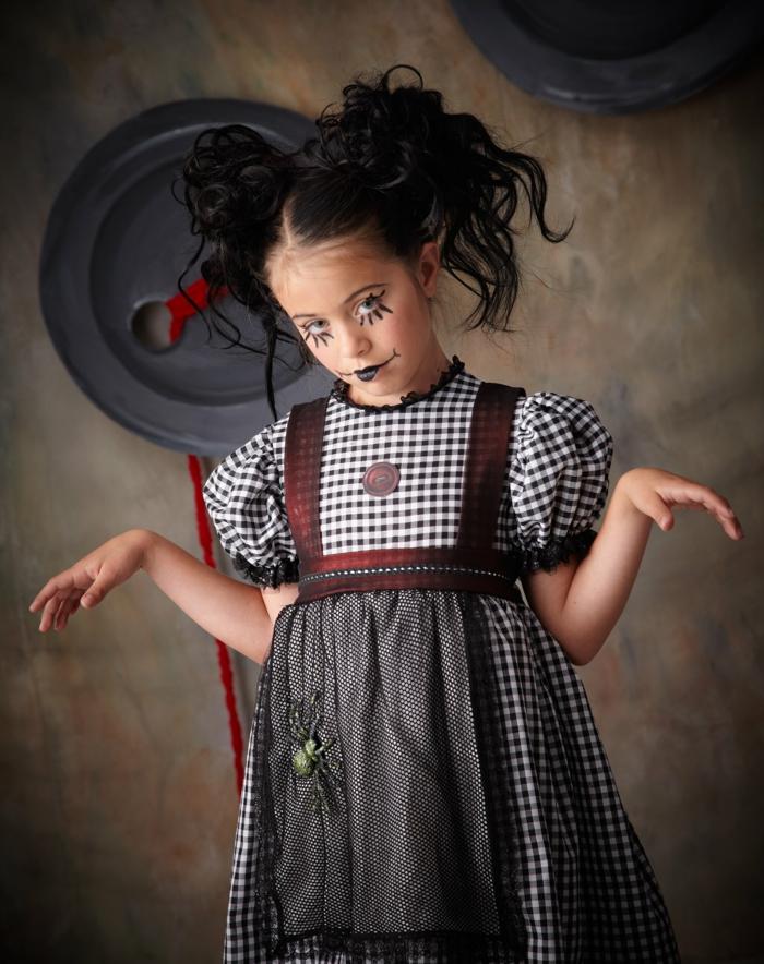 maquillage petite fille, déguisement original et peinture pour visage facile