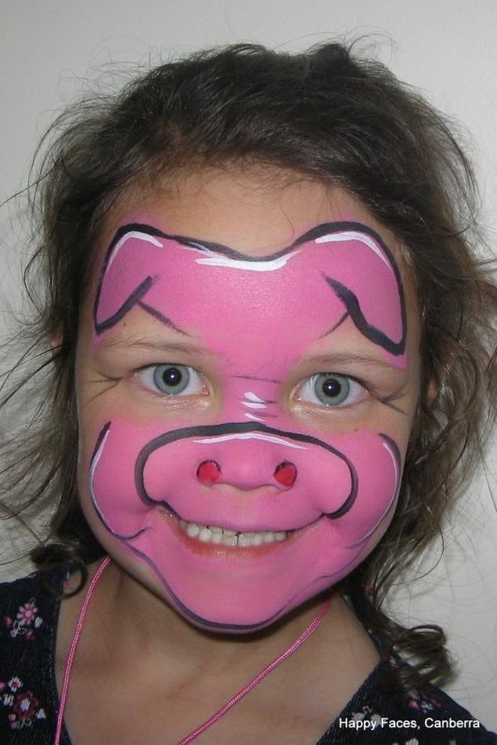 maquillage pour petite fille, maquillage créatif fille et garçon, maquillage simple avec peintures