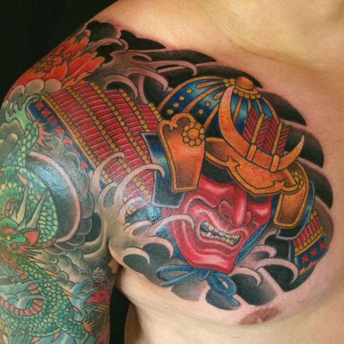 tatouage samurai hannay demon japonais