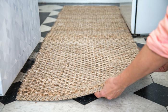 aménager un tapis, idée comment refaire sa cuisine à moindre cout avec de petits accents deco