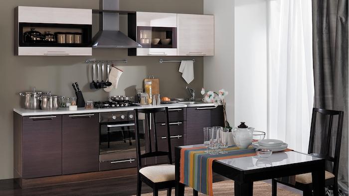 1001 astuces comment am nager une cuisine en longueur for Petite cuisine gris et blanc