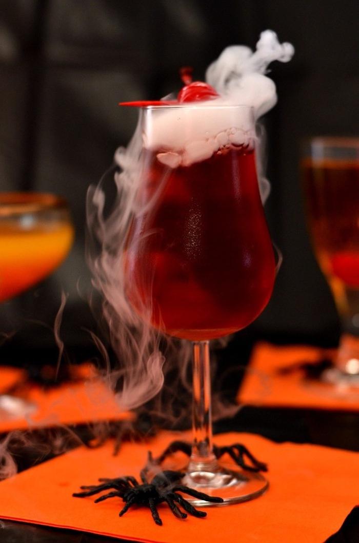 recette de cocktail halloween bloody vampire avec jus de canneberge et vodka