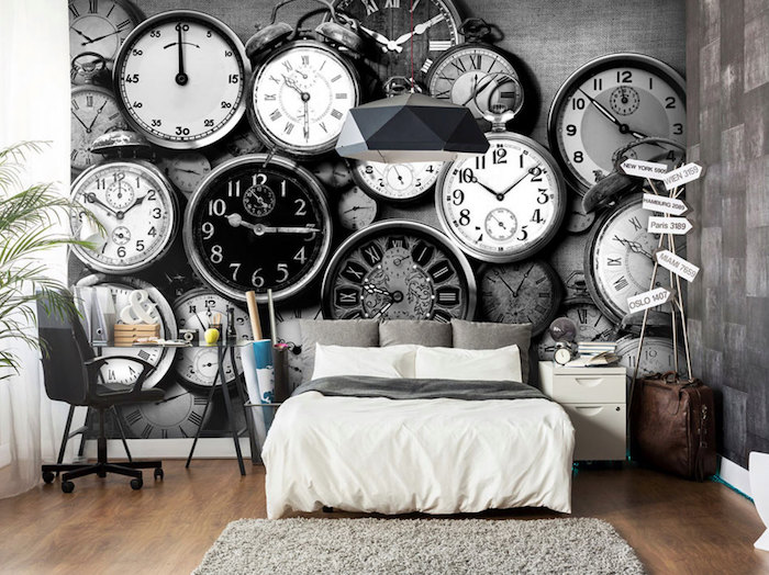papier peint chambre un guide avec plus de 80 id es pour choisir un rev tement mural tendance. Black Bedroom Furniture Sets. Home Design Ideas