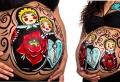 Body painting femme enceinte – une toile tout en rondeurs