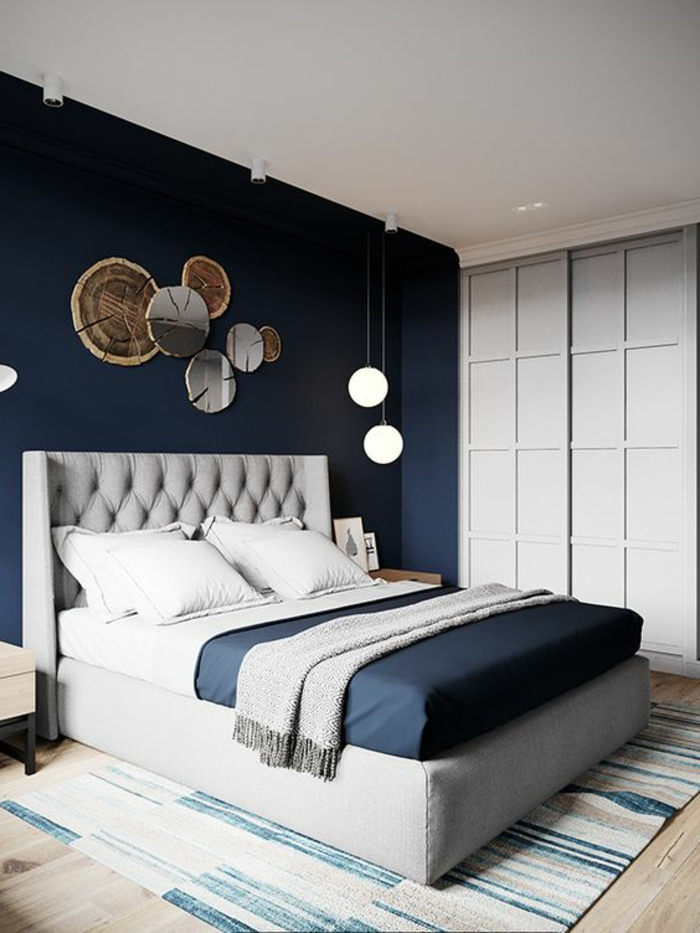 Beautiful bleu chambre adulte photos design trends 2017 for Photo de chambre adulte