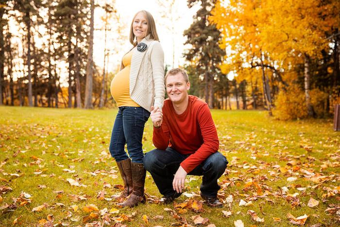 décor foret photographie femme enceinte et couple