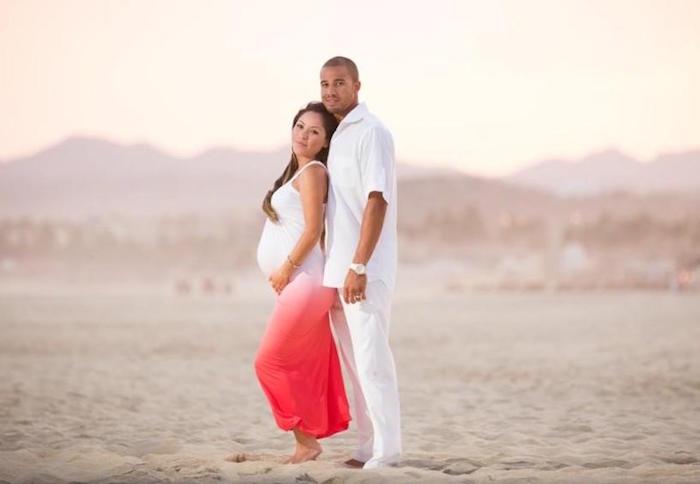idée séance shooting grossesse sur la plage