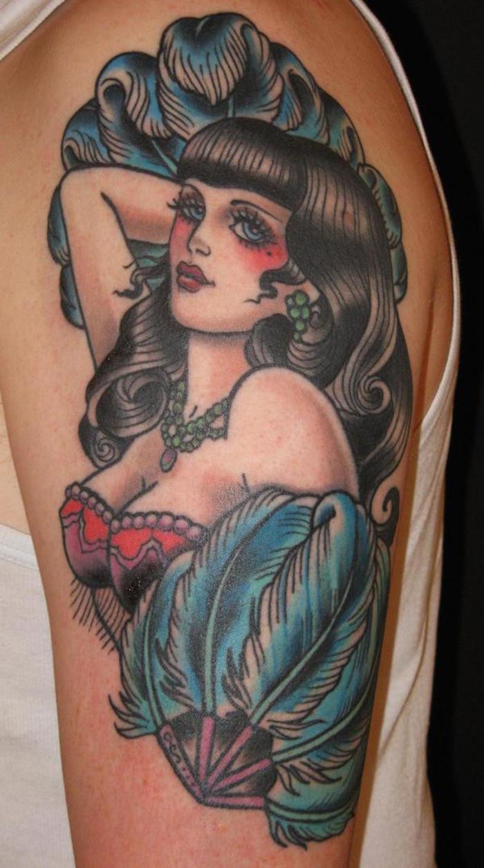 pin up burlesque tattoo année 20